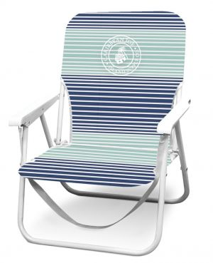 Caribbean Joe Low Beach Folding Chair with Back Pockets and Carry Strap