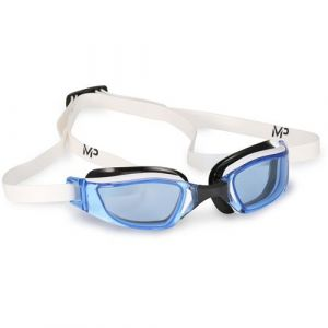 Michael Phelps Adult XCEED Goggles - Blue Lens - White/Black