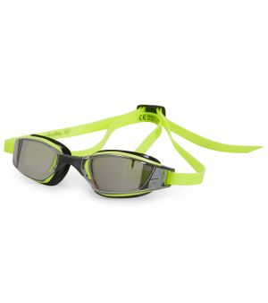 Michael Phelps Adult XCEED Goggles - Mirrored Lens - Yellow/Black
