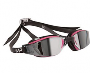 Michael Phelps Adult XCEED Goggles - Mirrored Lens - Pink/Black