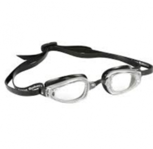 Michael Phelps Adult K180 Goggle - Clear Lens - Silver/Black