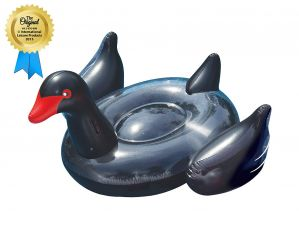 Swimline Giant Black Swan Pool Float