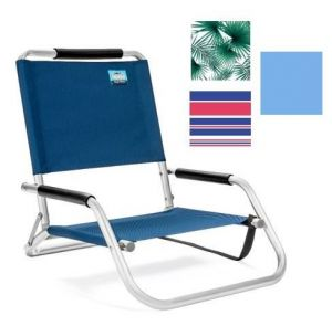 1-Position Low Aluminum Sand Chair with Strap