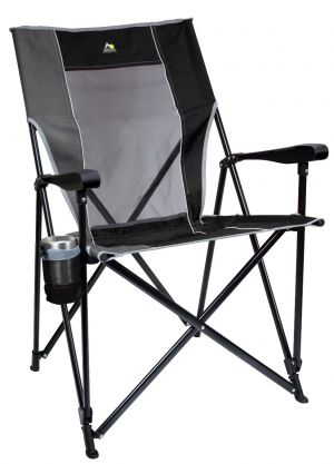 GCI Outdoor Eazy Chair XL Black- 400lb weight capacity