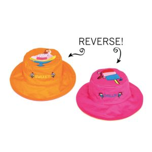 Luvali 'Flapjacks' Kids Reversible Sun Hat - Sweet Sundae/Chillin' Popsicle