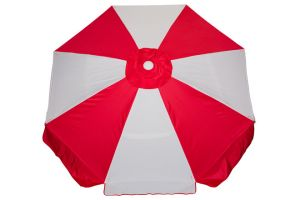 Buoy Beach 7.5 Ft. Fiberglass Frame 8 Panel Beach Umbrella w/ Stowage Hammocks