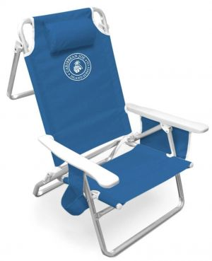 Caribbean Joe 5 Position Beach Chair with Deluxe Polymer Arms