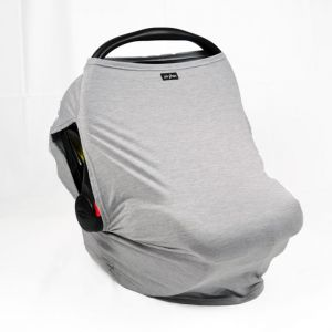 Luv Bug Sunscreen Car Seat Cover w/ Side Vents - Heather Gray