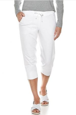 Coolibar Ladies Weekend Cropped Jogger UPF 50+ - White