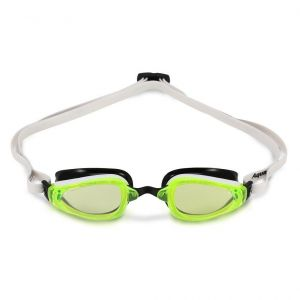 Michael Phelps Adult K180 Goggles - Lime Lens - White/Black