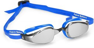 Michael Phelps Adult K180 Goggles - Mirrored Lens - White/Blue
