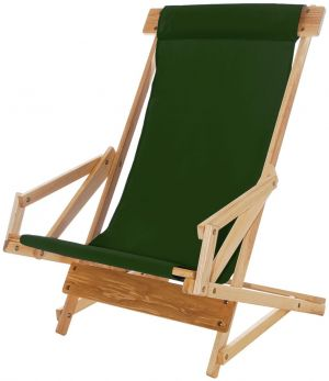 forest green sling chair