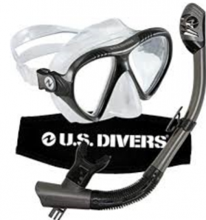 U.S. Divers - Adult GoPro®-Ready Mask and Snorkel - Grey/Black - One Size