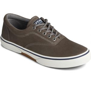 Sperry®  Men's Halyard CVO Leather Sneaker - Grey