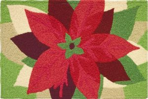 Home Comfort Poinsettia Rug