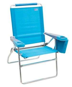 Rio 17in Beach Chair with Deluxe Arms - Turquoise