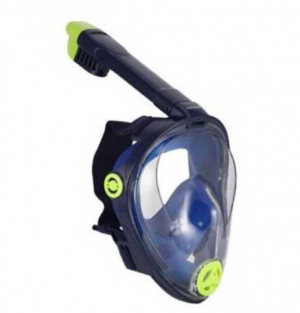 U.S. Divers Adult Hydroair Full Face Mask with Snorkel - Navy/Green