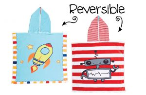 Luvali Kid's Reversible Cover Up-Spaceship/Robot (One Size)