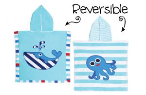 Kid's Reversible Cover Up Whale/Octopus *one size