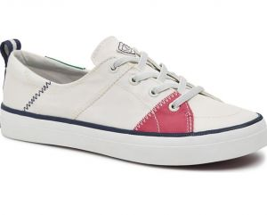 Sperry® Top-Sider Crest Vibe WHT/PNK/GRN - Size 8