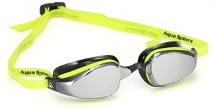 Michael Phelps Adult K180 Goggles - Mirrored Lens - Yellow/Black
